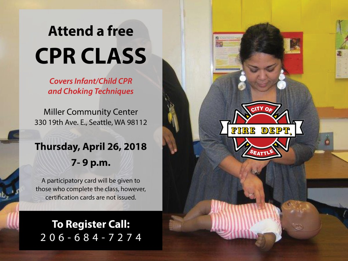 Seattle Fire Dept On Twitter Join Us For A Free Cpr Class On