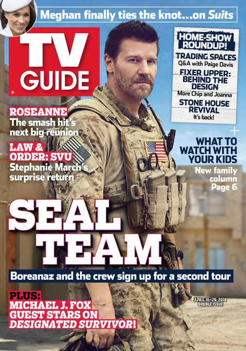 #SEALTeam's @David_Boreanaz is looking positively 😍 on the cover of @TVGuideMagazine!