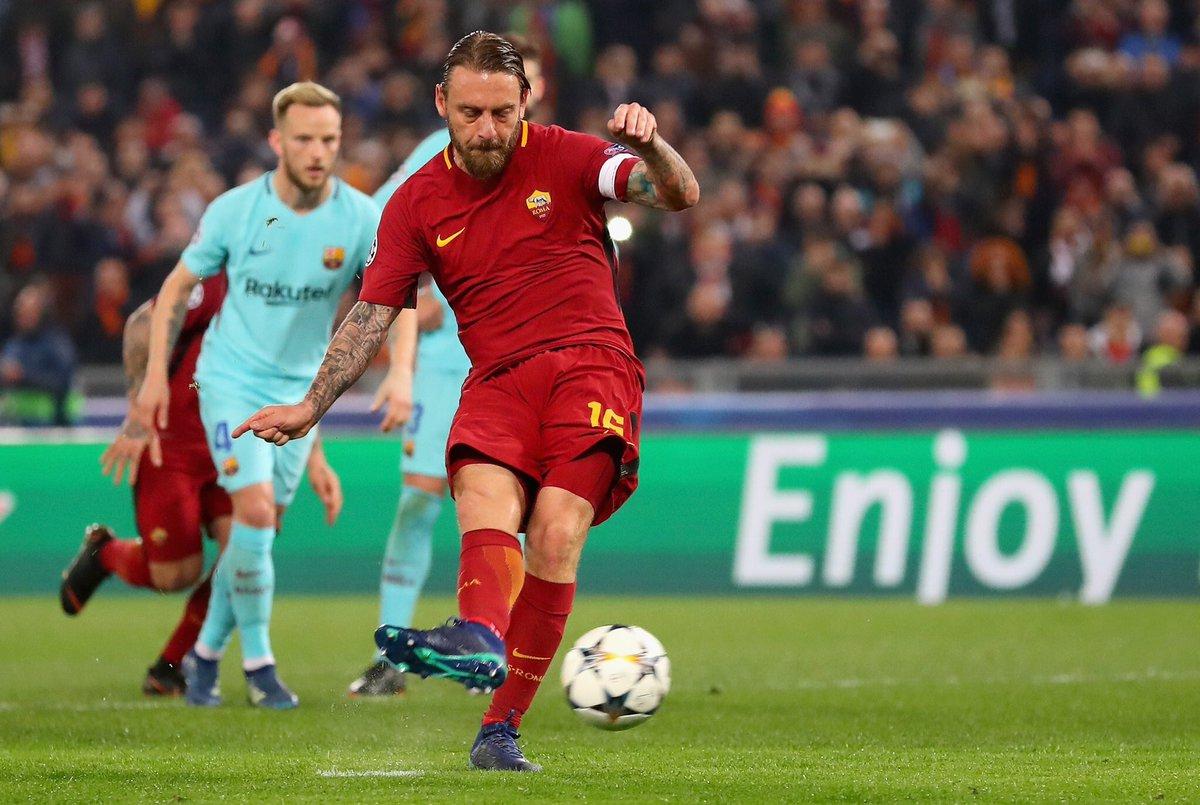 روما يُقصي برشلونة من دوري الأبطال 25
