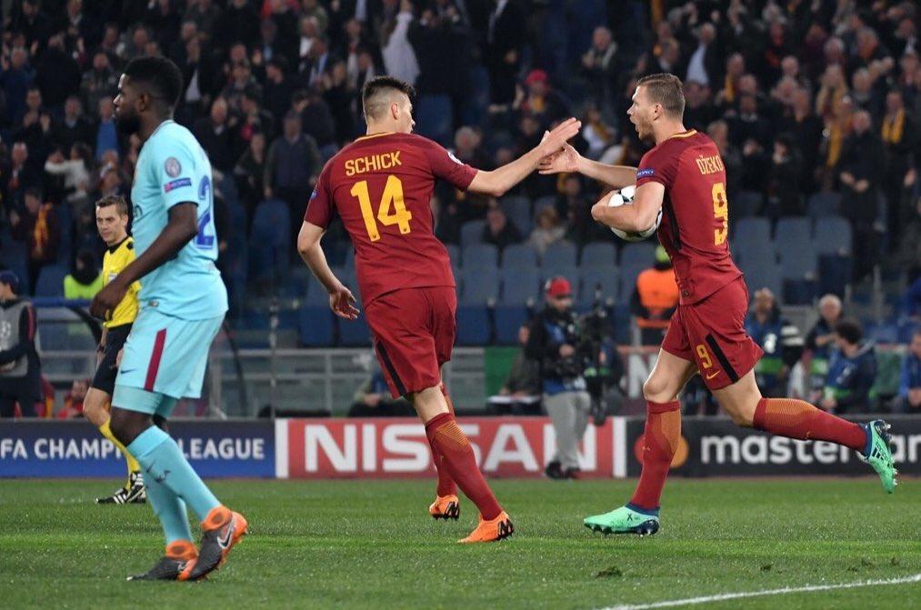 روما يُقصي برشلونة من دوري الأبطال 26