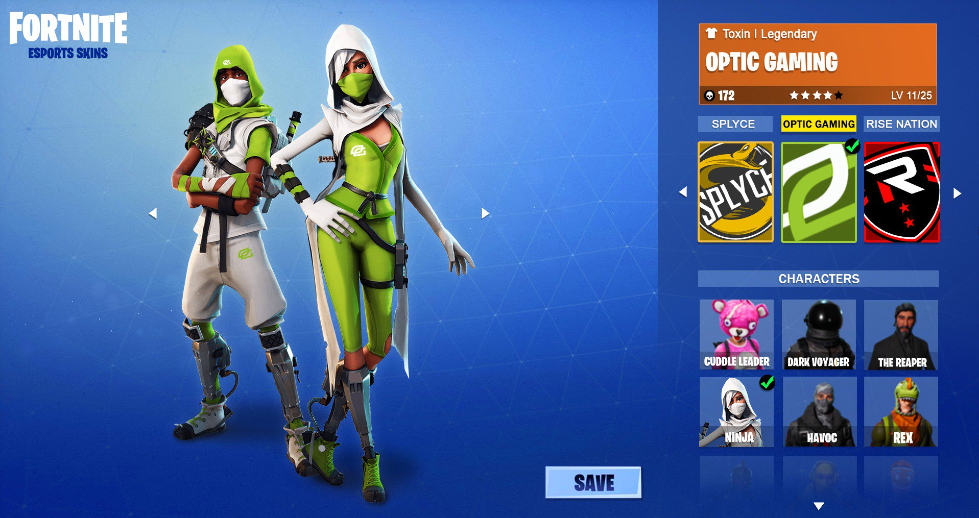 Krng Toxin On Twitter Quot Fortnite Esports Skins For