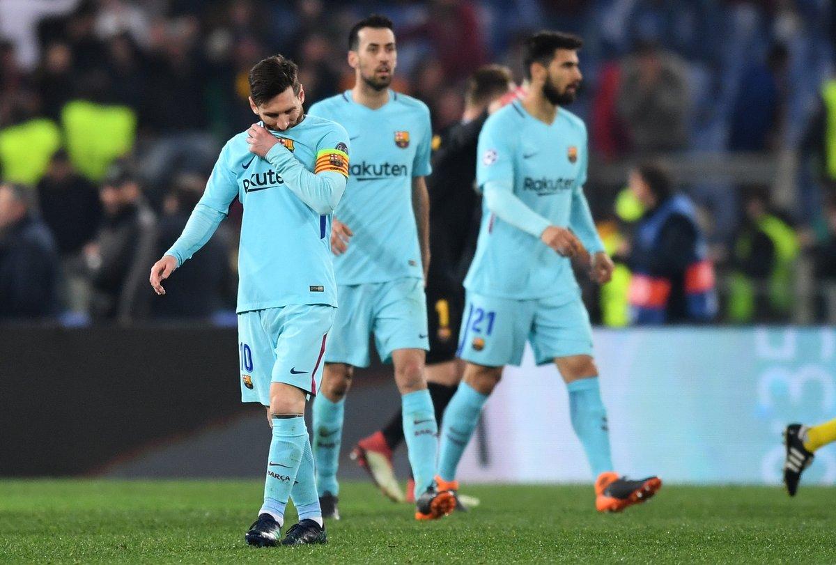 روما يُقصي برشلونة من دوري الأبطال 29