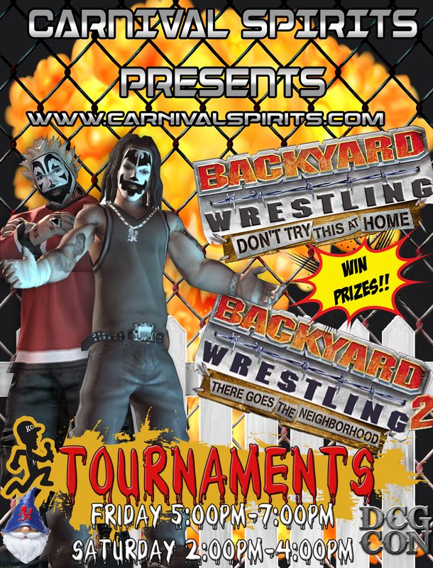 May 11 and 12 I'm hosting a Backyard Wrestling Video Game Tournament in  Denver, Co !! Tickets and event details at http://www.DCGCon.Com Cool  prizes. - Kevin Gill On Twitter: