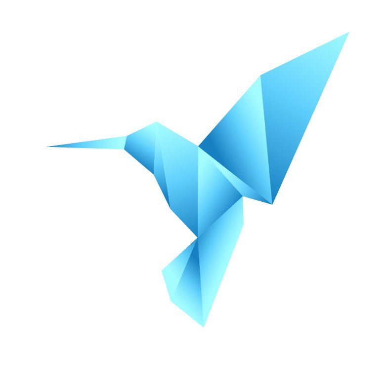 Image of Couple of colorful origami hummingbird - Stocky - $1 GIFs ...   768x781