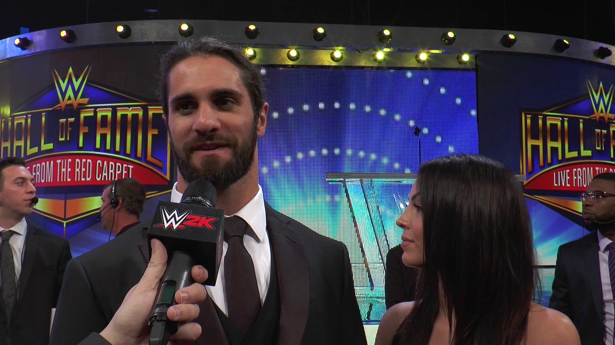 Check out our interviews from the #WWEHOF red carpet with @WWERollins and @WWE_MandyRose! #SDLive