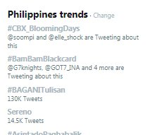 #BamBamBlackcard is still trending on Twitter Philippines ranking No.2 and in Thailand ranking No.3 for today, April 11, 2018. The hashtag has been trending for three consecutive days already!   Congrats @BamBam1A @GOT7Official #GOT7 !<br>http://pic.twitter.com/v5uR5Ov07g
