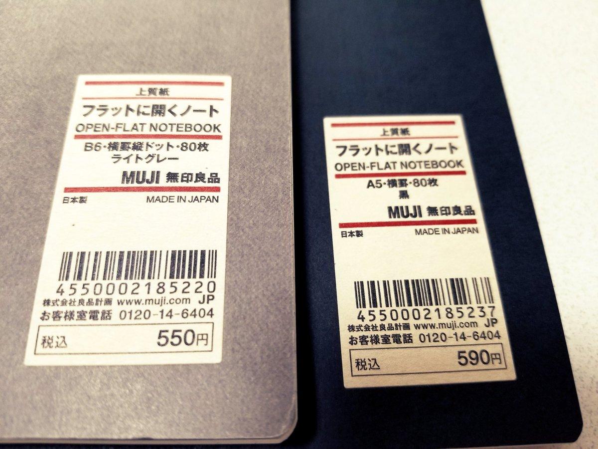 無印良品のノートケースに開きやすいノートをセット
