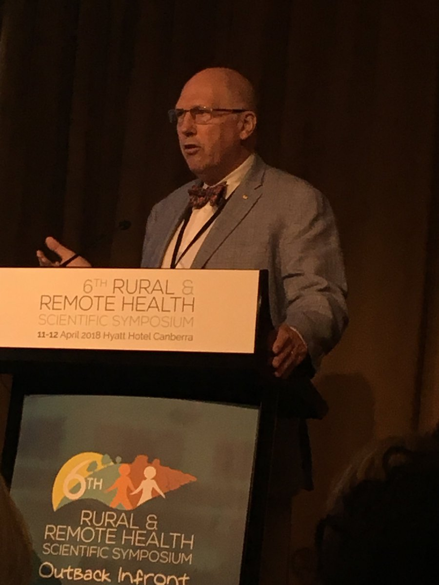 Professor Hugh Taylor @profhughrt opening plenary presentation at Rural and Remote Health Symposium in Canberra #6rrhss.  270 rural health researchers sharing knowledge and learnings <br>http://pic.twitter.com/cXNoTyE5yp