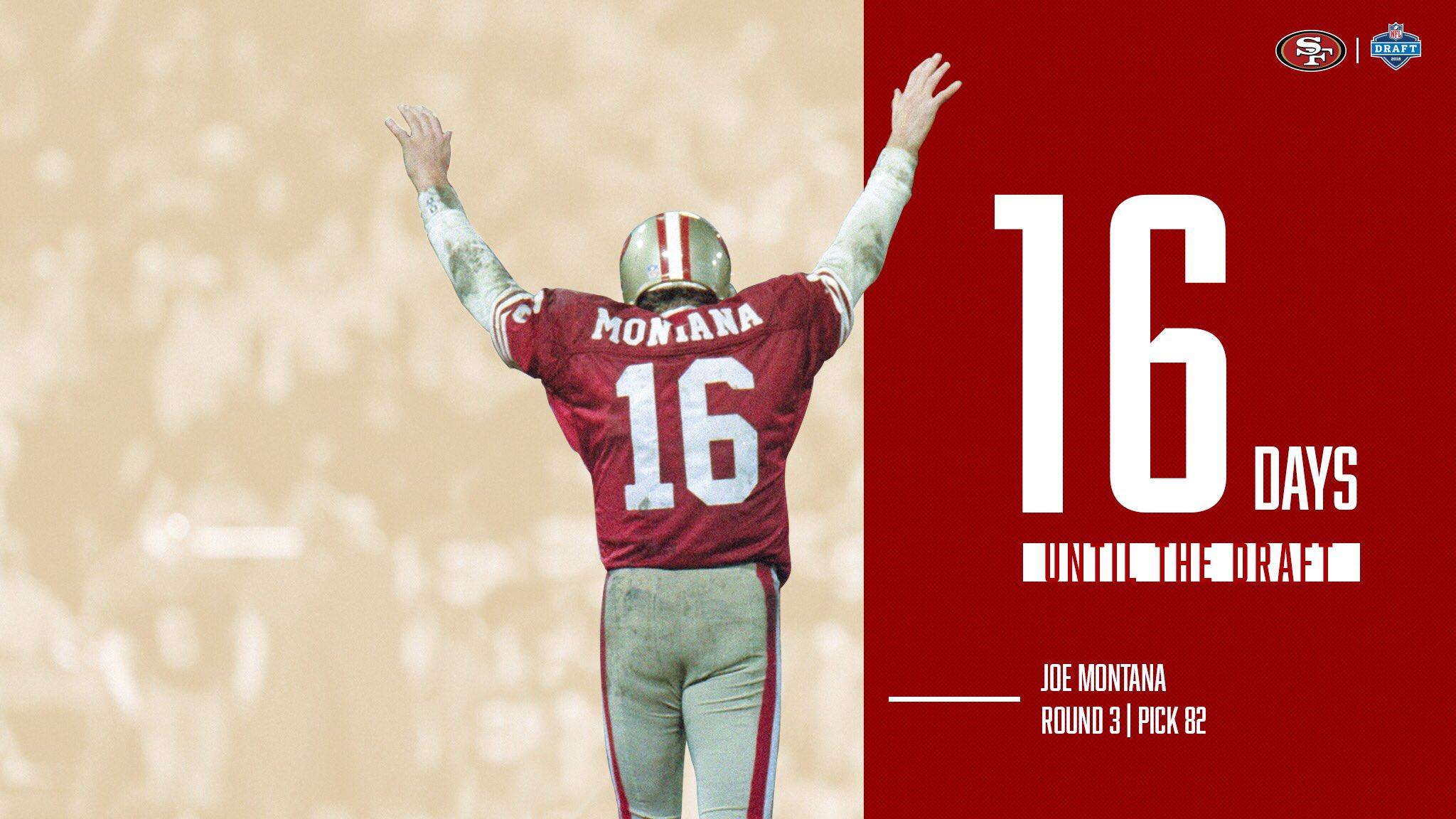 The #NFLDraft is @JoeMontana days away! �� https://t.co/6Y1DbIlZ1U