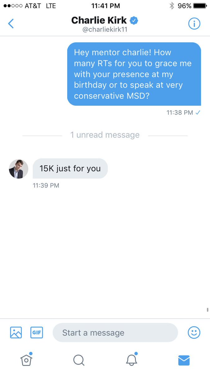 I NEED 15K RTs for @charliekirk11 TO COME SPEAK AT #MSD!!!! We all know how much my school loves conservatives, so lets make it happen!!!