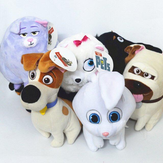 Plush Snowball Dog Toy
