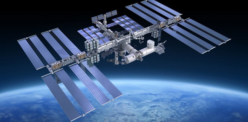 International Space Station visible to the naked eye above