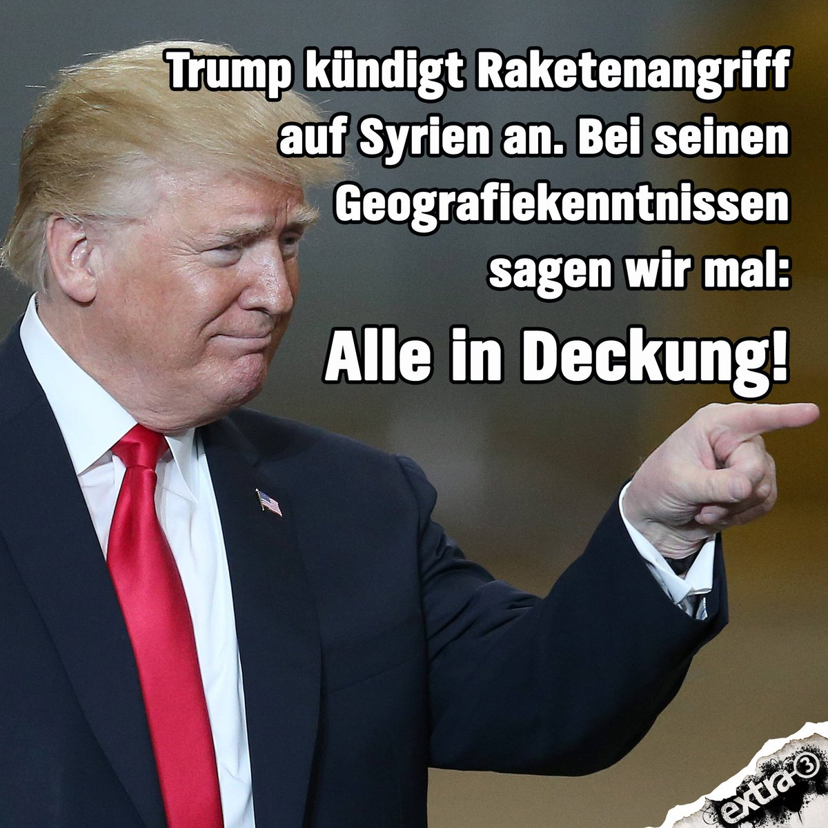 Wahrscheinlich versenkt er Sylt. #Trump #Syrien