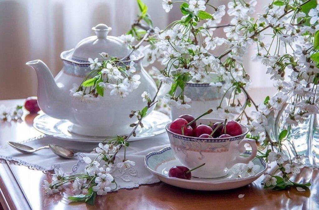 Открытки чудесного утра и хорошего настроения