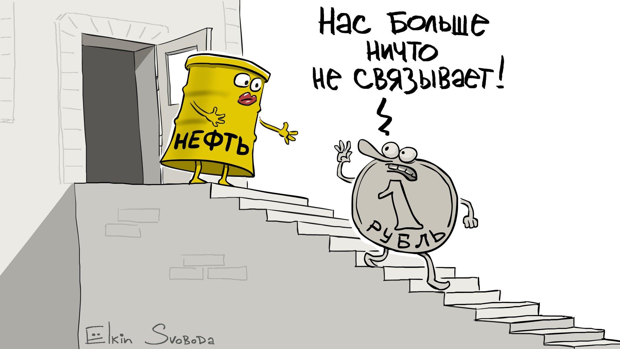 рост нефти и падение рубля