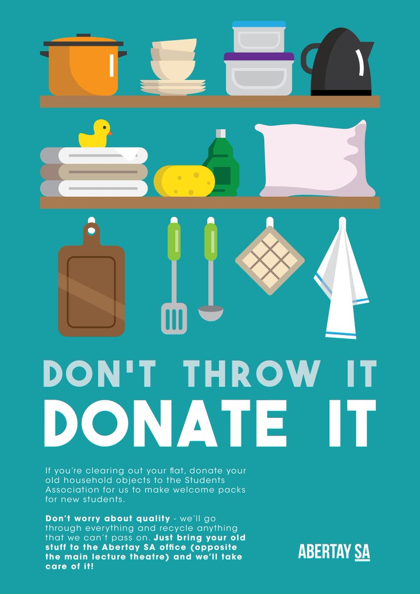 """abertay sa on twitter: """"clearing out your flat? donate your"""