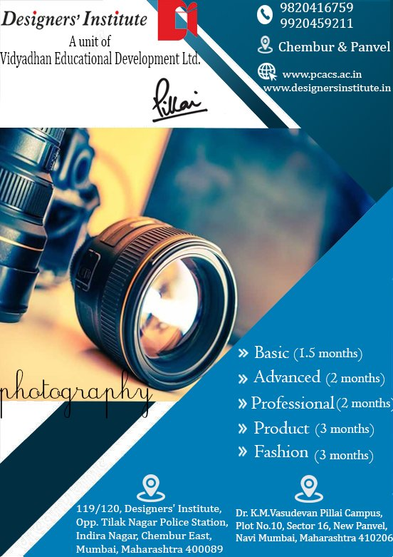 Learn Free Photography With Fashion Interior Designing Course
