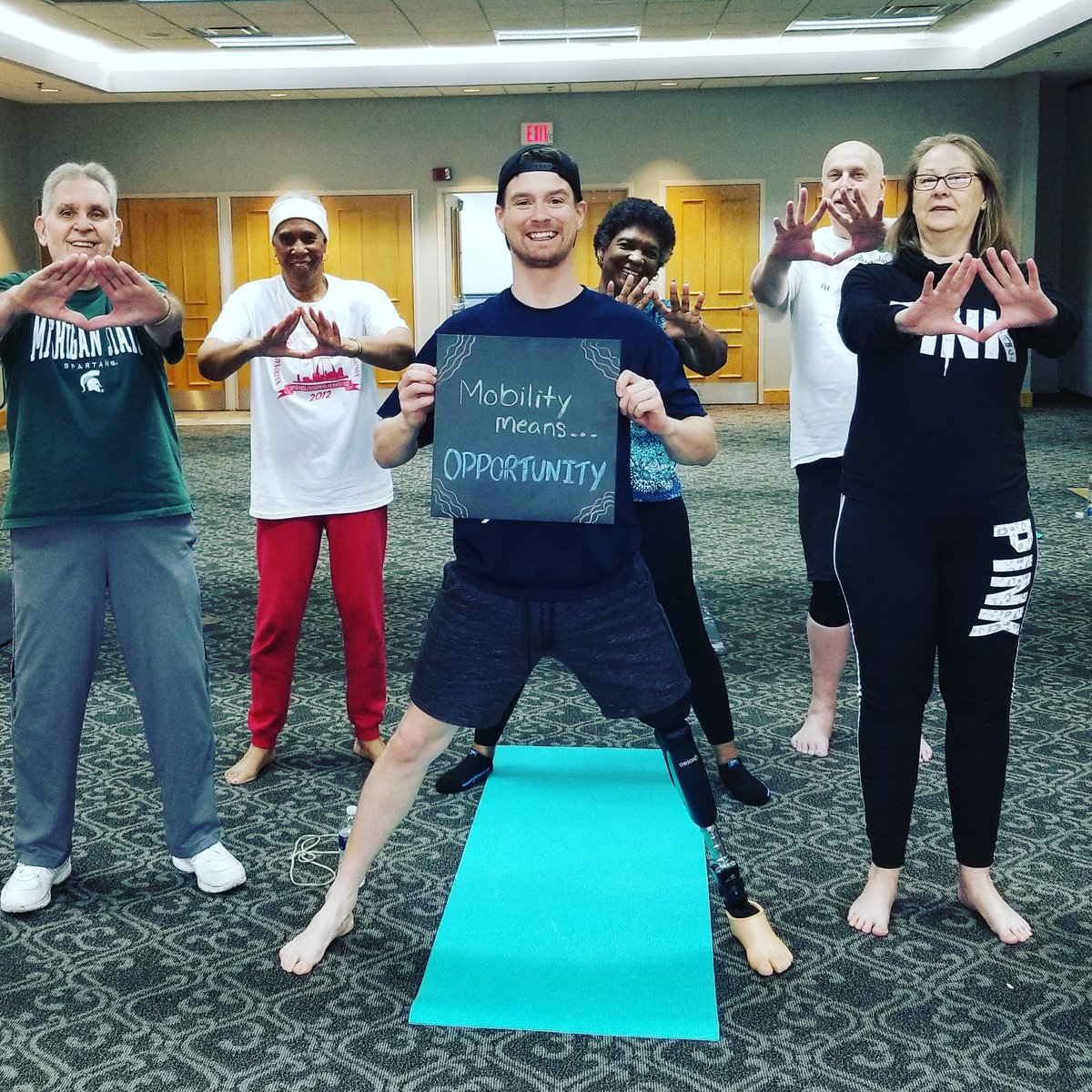 Love doing @ddpyoga with our local senior citizens. An often underserved and overlooked population.  Mobility means OPPORTUNITY to serve and live a life I never knew was possible! @ROMPglobal gives that gift to amputees in developing countries. Please support them.