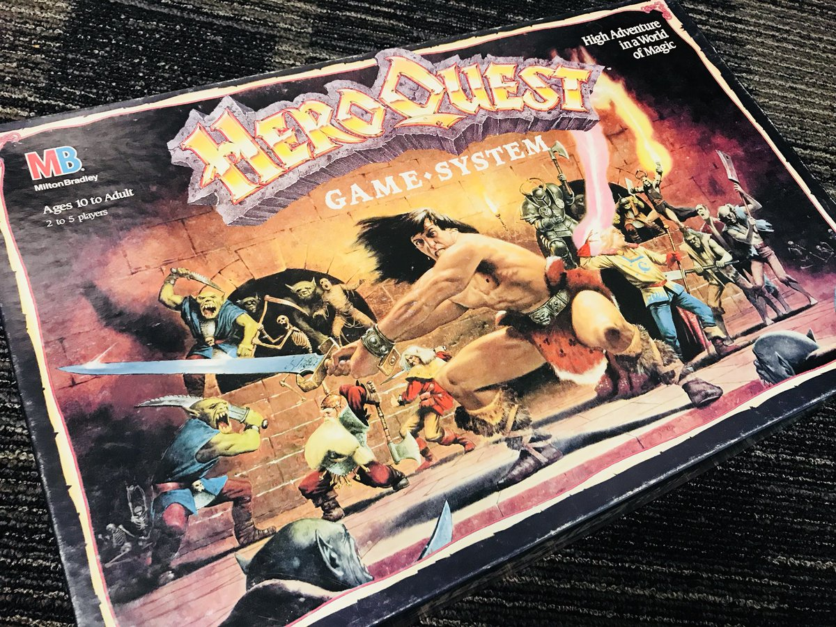 test Twitter Media - Snagged these from the free table at WotC. HeroQuest is what basically got me into role-playing tabletop gaming as a kid. Too bad all of the pieces are missing. #gamesworkshop https://t.co/R78Lh1p2Da