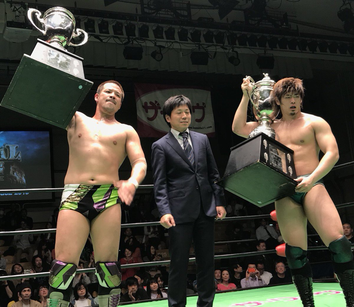 9909f017b3 Shiozaki & Kiyomiya win the GTL 2018. ~ The two will go on to challenge for  the GHC Tag belts against Nakajima & Kitamiya on April 29 in Niigata.