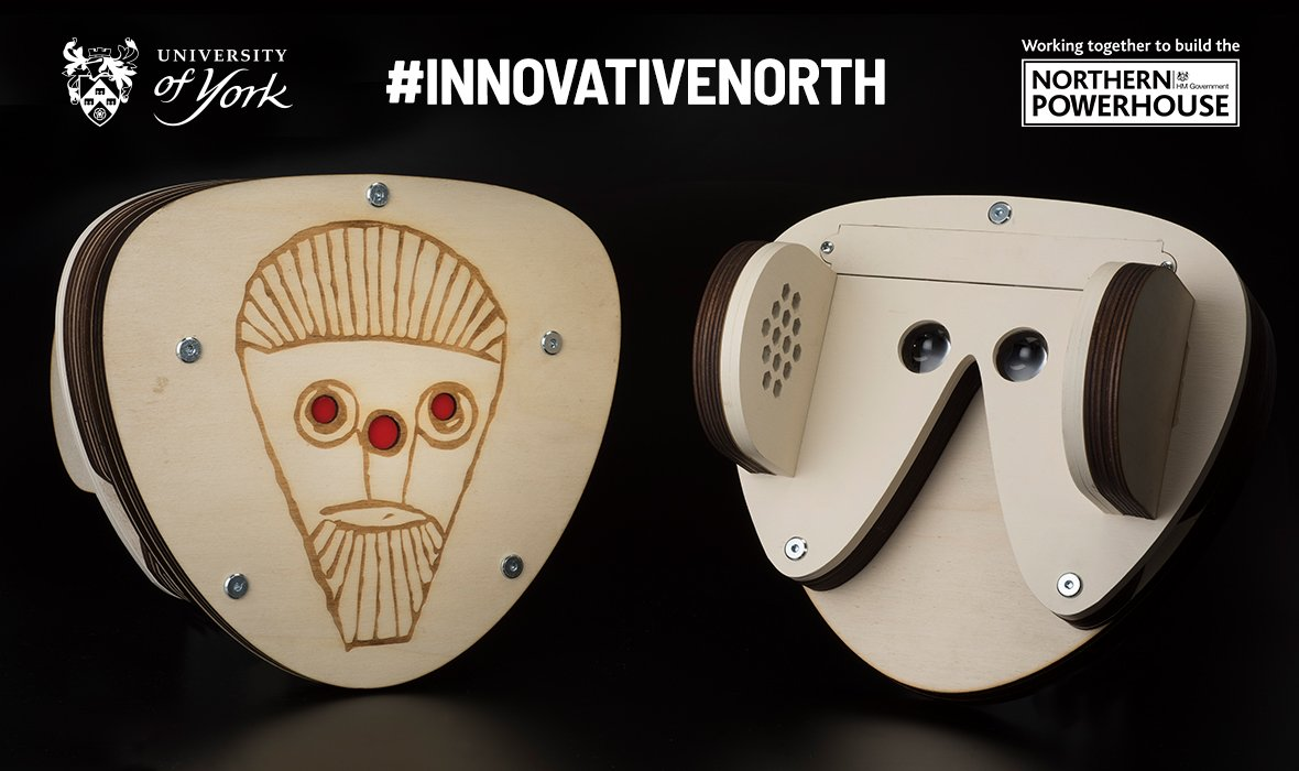 What was it like living in a Viking village? A virtual reality mask designed by a team of our researchers allows you to experience the sights and sounds of a Viking army camp. Find out more:  http:// bit.ly/2Hfkxfd  &nbsp;   #YorkResearch #InnovativeNorth @labsofdc @YorkMuseumTrust<br>http://pic.twitter.com/NynxwOGLK4