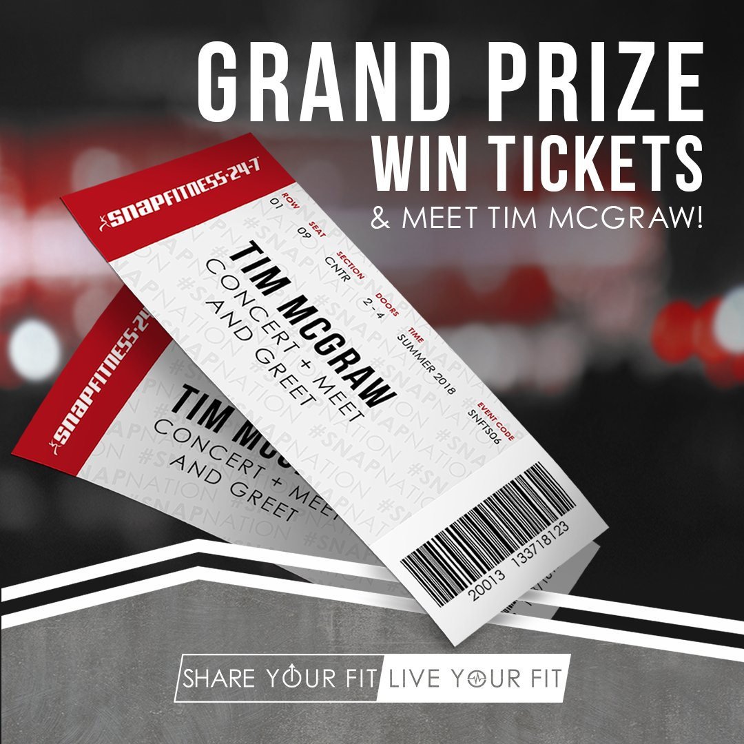 Snap fitness on twitter sweat share repeat share your success and be entered for a chance to win meet and greet passes to a tim mcgraw concert httpbitshareyourfit picitterzi7j1wbsix m4hsunfo