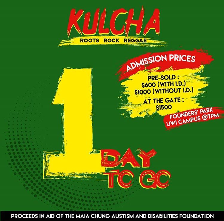 Just 1 DAY TO GO until the staging of Kulcha: Roots, Rock, Reggae. Join us on the lawns of the Founders&#39; Park and UWI, Mona at on April 12th. Stay tuned to @kulchaja for more details.  • #Kulcha2018 #Acoustic #Reggae #Jamaica #AutismAwareness #UWI #UWIMona<br>http://pic.twitter.com/MVYlEupJK3