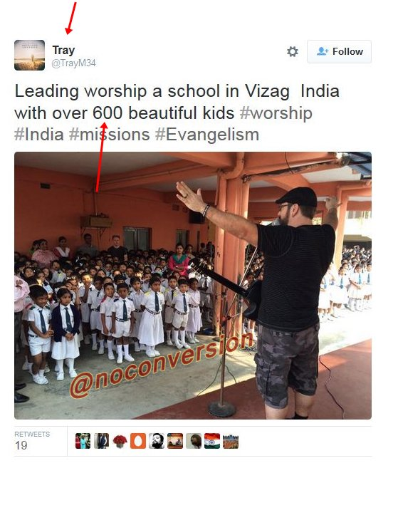 Thanks to  @SushmaSwaraj  @HMOIndia  @PMOIndia  Foreign Christian Missionary can get into INDIAN school  and can have direct access to kids ... Where is safety? security  for our children??? <br>http://pic.twitter.com/dQ7pwTBw6x