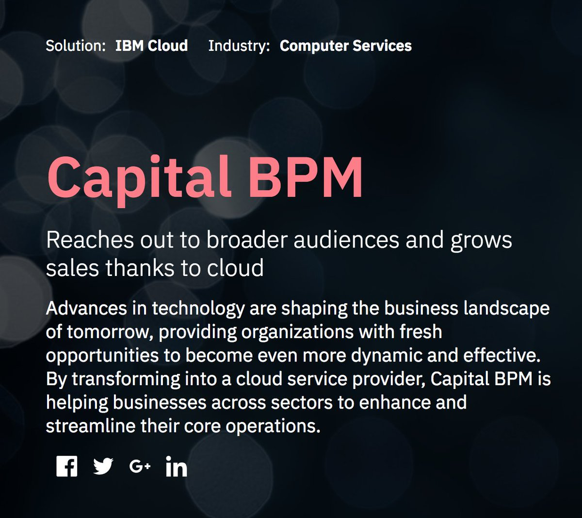 The IBM Cloud Was A Game Changer For Our Business. Find Out More Through  The Link Below #capitalbpm #ibmcloud #cloudbased #capbpm #bpm  #businessprocess #rpa ...
