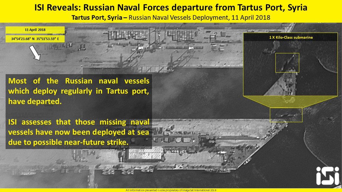 ISI: РФ выводит корабли сбазы Тартус вСирии