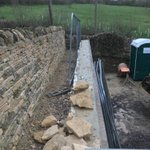 Image for the Tweet beginning: Dry stone boundary wall nearing