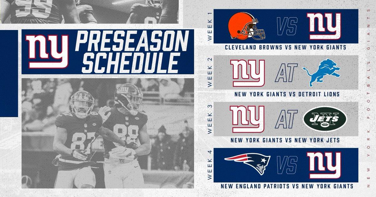 new york giants on twitter big blue s 2018 preseason schedule is