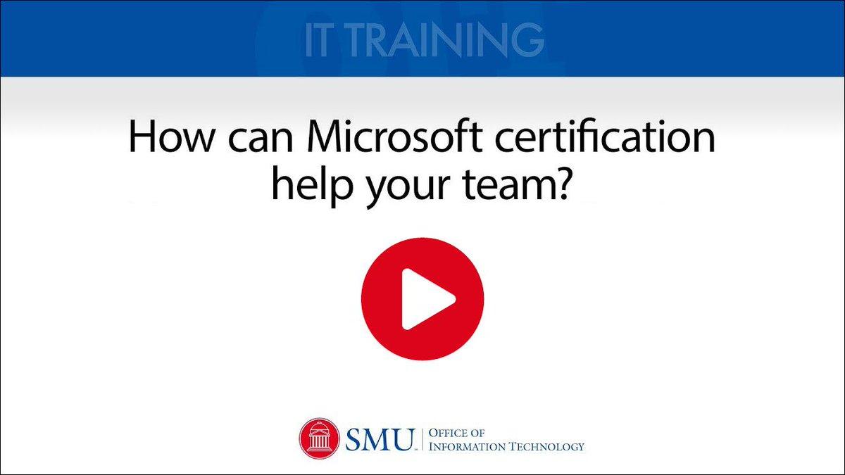 Smu Oit On Twitter Over 2 Dozen Microsoft Office Certifications