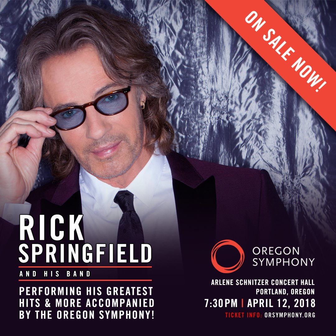 Rick Springfield On Twitter Were Performing All The Hits And More - Arlene schnitzer tickets