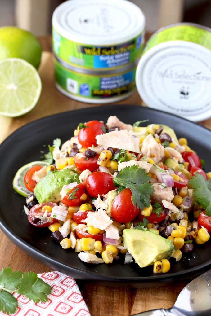 This Mexican Tuna Salad is made with sustainable albacore tuna from @wildselections! This protein-packed salad is easy to make & delicious -> https://t.co/yIQGauPWpu <- #wildselections #ad #Selectsustainable #recipe #Salad #MexicanFood https://t.co/88ONh10ign