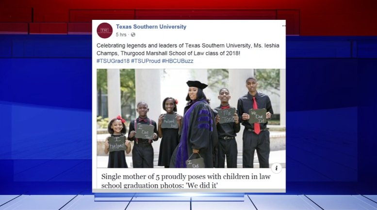 5bc252dc943 Inspiring  single mom of 5 goes viral with law school graduation photo -  scoopnest.com