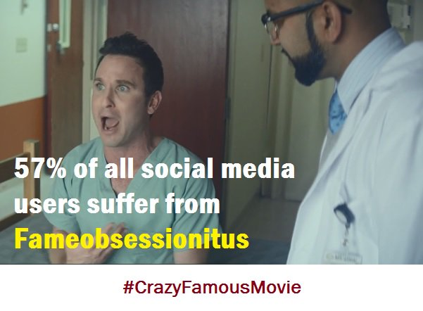 """Do you obsess over the remote possibility that a #Facebook, #Instagram, or #YouTube post could make you a #ViralSensation? If you say """"yes"""", get help. Watch @CrazyFamousFilm On-Demand everywhere. #crazyfamous #crazyfamousmovie #fameobsession #ocd #socialmediaaddiction #indiefilm https://t.co/d0XfojK73N"""