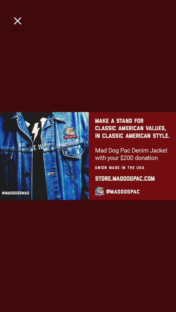 28abe0857350 Classic Jean Jacket. Men s and Ladies.  200 donation. https   maddogpac .com collections apparel products mens-denim-jacket  …pic.twitter.com 222N3rO5z4