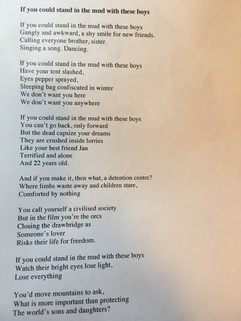 Katherine Kotz On Twitter I M In Calais I Wish You Could Meet The People Here Theresa May And Amberruddhr I Wrote This Poem