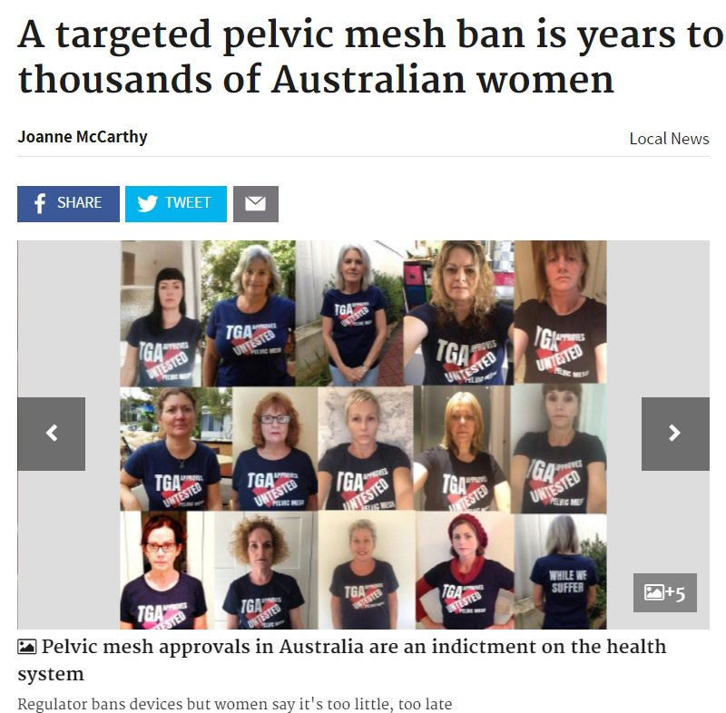 What has Australia done concerning transvaginal mesh lawsuits that the US has not? ow.ly/EVTf30jruMR