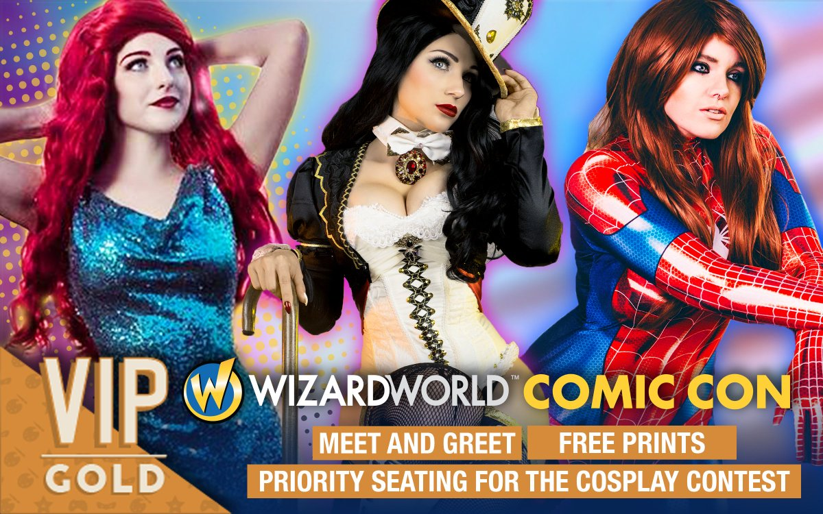 Wizard world on twitter hey portland check out our vip cosplay get meet greets free prints priority seating for cosplay contest more purchase your package today httpwizdpnj3 picitterglskirz2re m4hsunfo