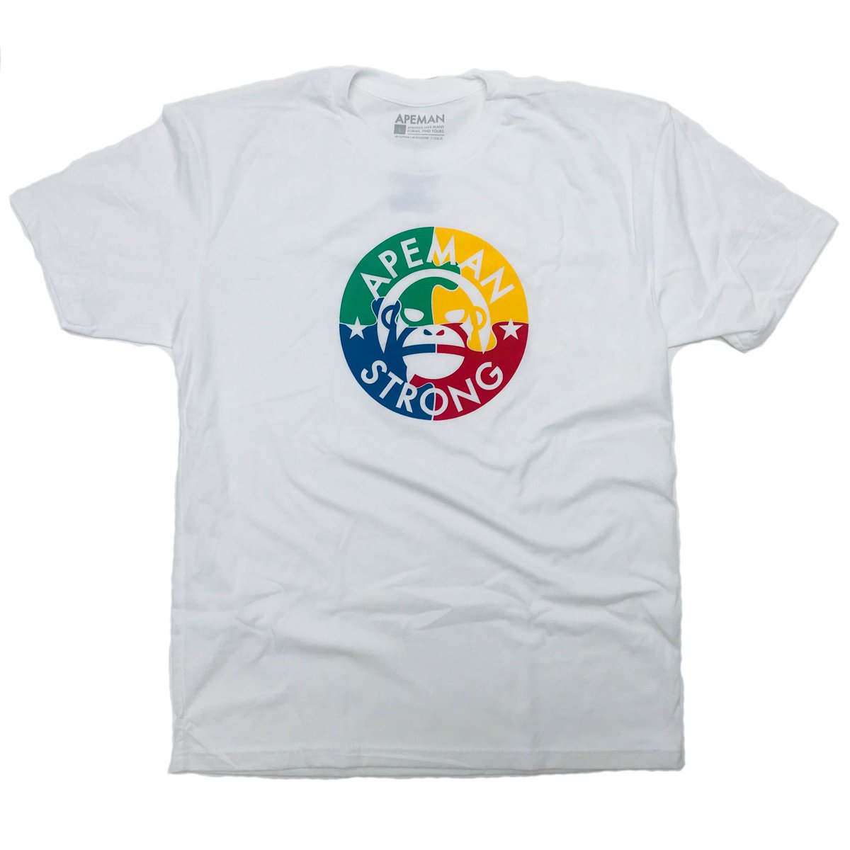 Our AUTISM Tee is restocked in men's, women's, and kid's. $5 of every sale is being donated to the Organization of Autism Research. apemanstrong.com
