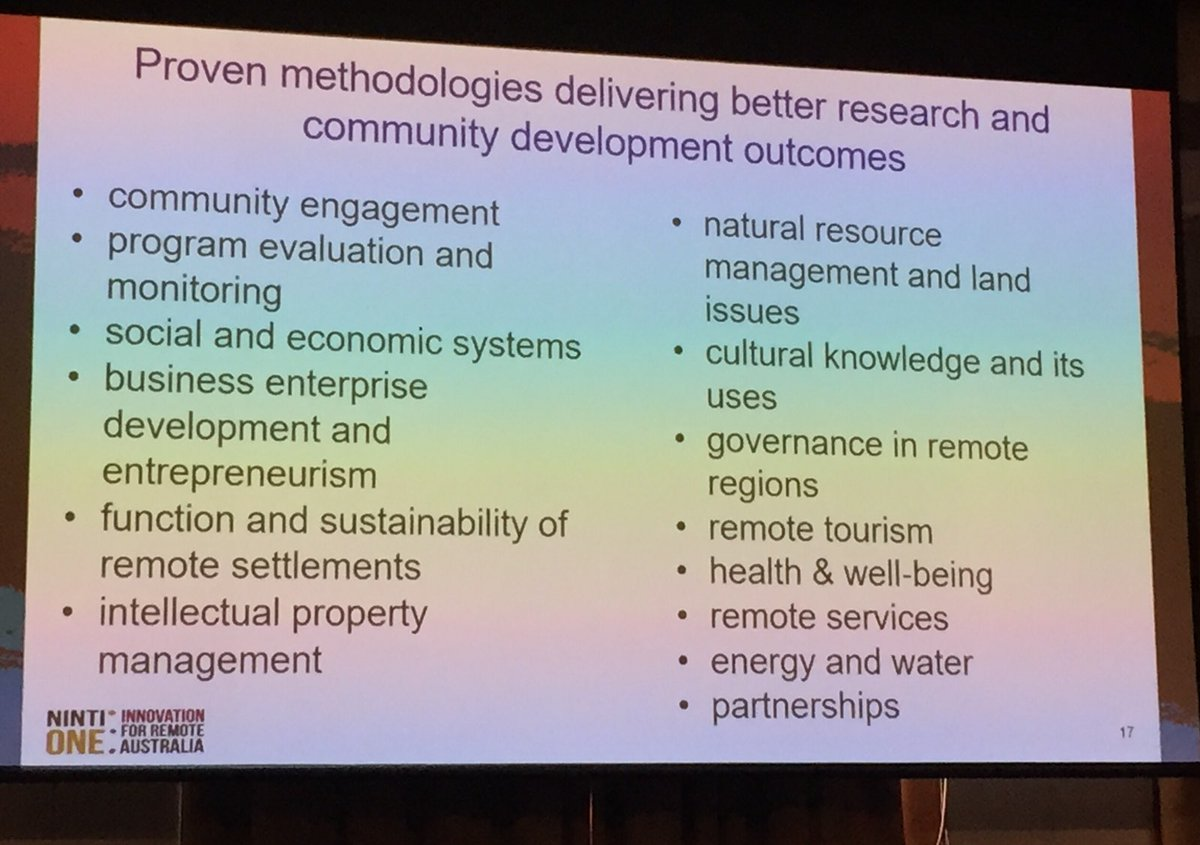 Talking about doing policy making and research with community, not to community with Prof. Tom Calma #6rrhss <br>http://pic.twitter.com/UhGwJ8yAoH