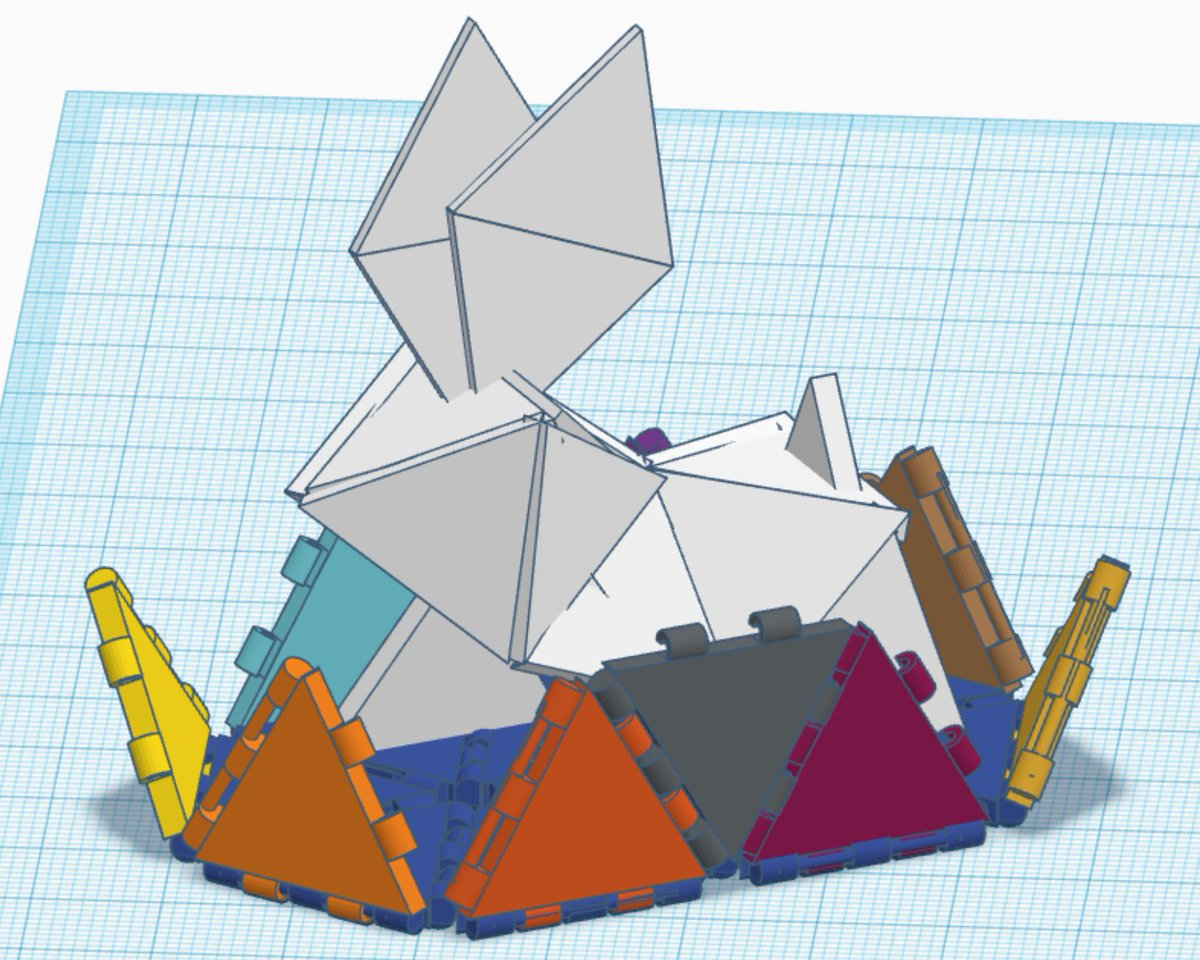 Tinkercadeaster Hashtag On Twitter 3d Origami Big Pink Rabbit Diagram Rab There Are Two Different Types Of Triangles For Better Linking The Inner Toy Is A Triangle Bunny In Simple And Recognizable Waypic Xgqkhg9dp3