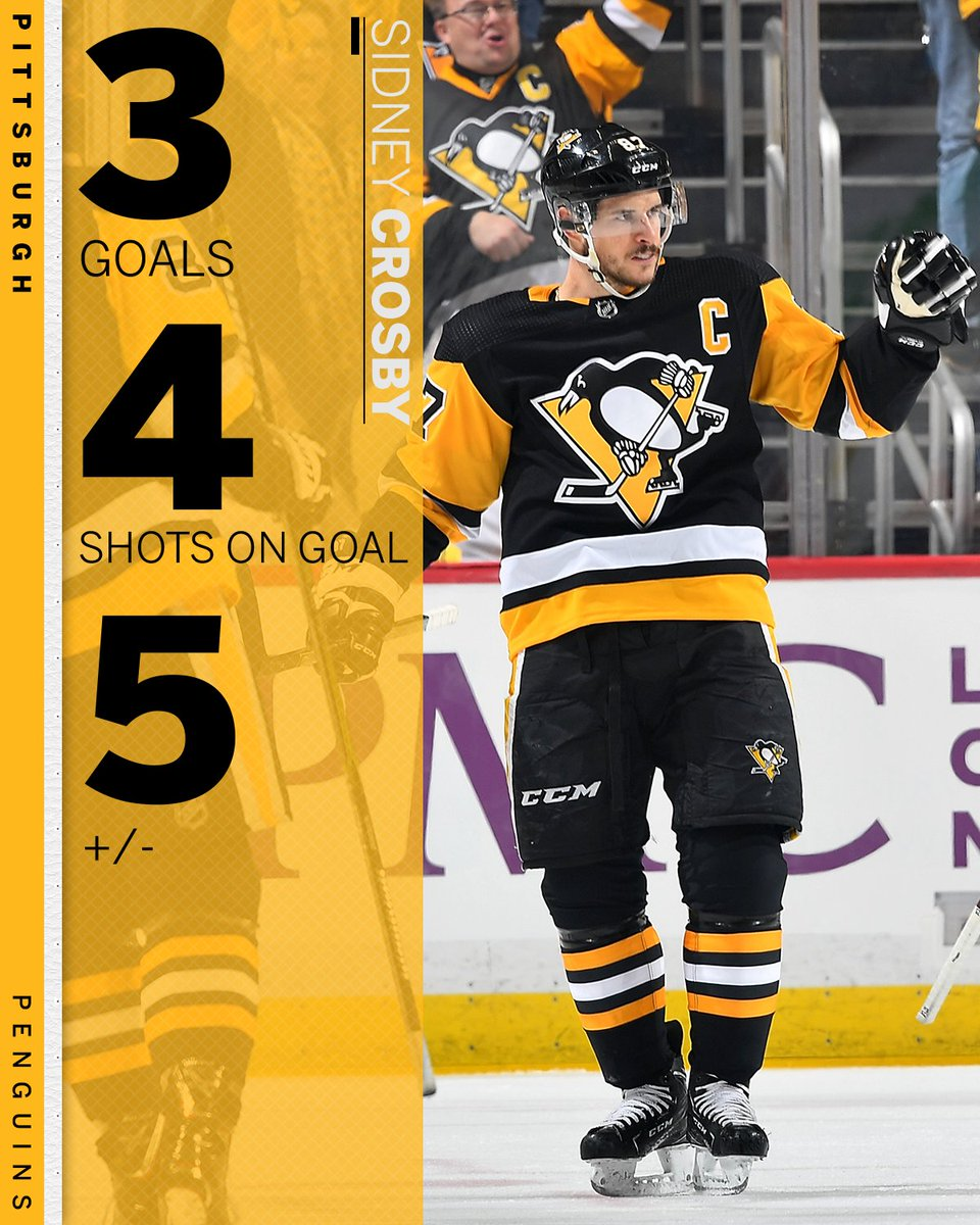 0408b7dd1db Crosby hat trick. The Penguins  quest for a 3-peat starts out strong.