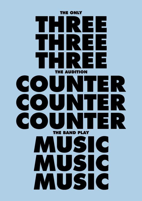 フェイス ミュージックエンタテインメント × スペースシャワーミュージックによる、3ピース・バンド限定オーディション「THREE COUNTER MUSIC」開催決定! 詳細はこちら