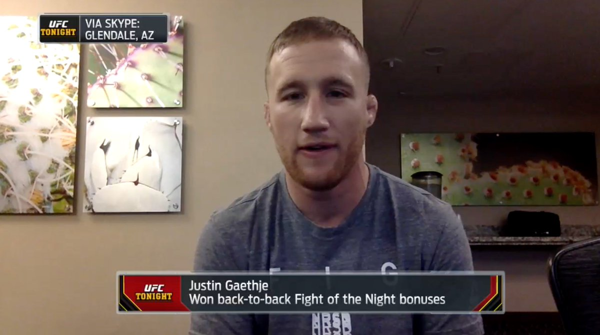 Its going to be exactly like bloodsport, where they are chanting Chong Li. Except its going to be Gaethje this time - Justin Gaethje