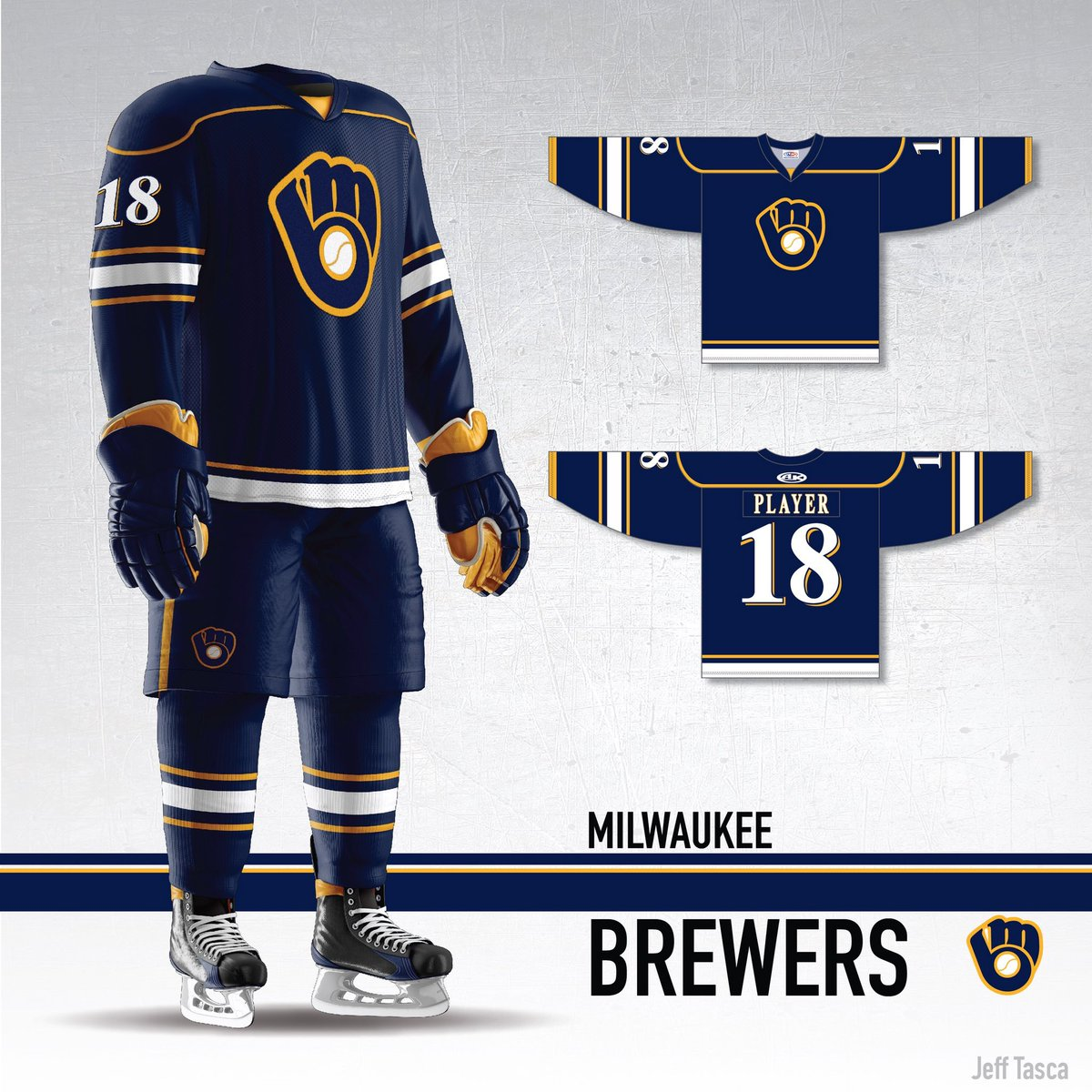 a9aa8ff5a AWESOME  brewers hockey concept jerseys by the amazing  j tasca - two  versions