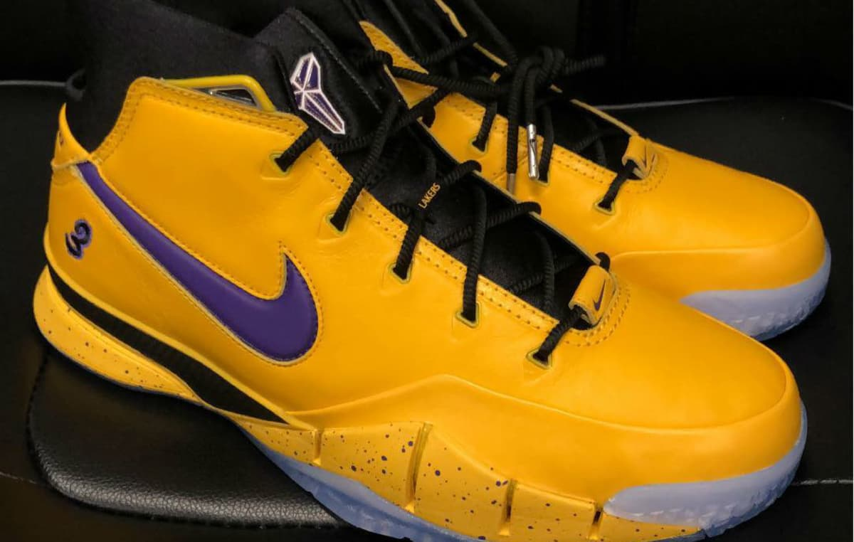 1cae274b4 Isaiah Thomas Unveils His Own Nike Zoom Kobe 1 Protro  Lakers  PE ...
