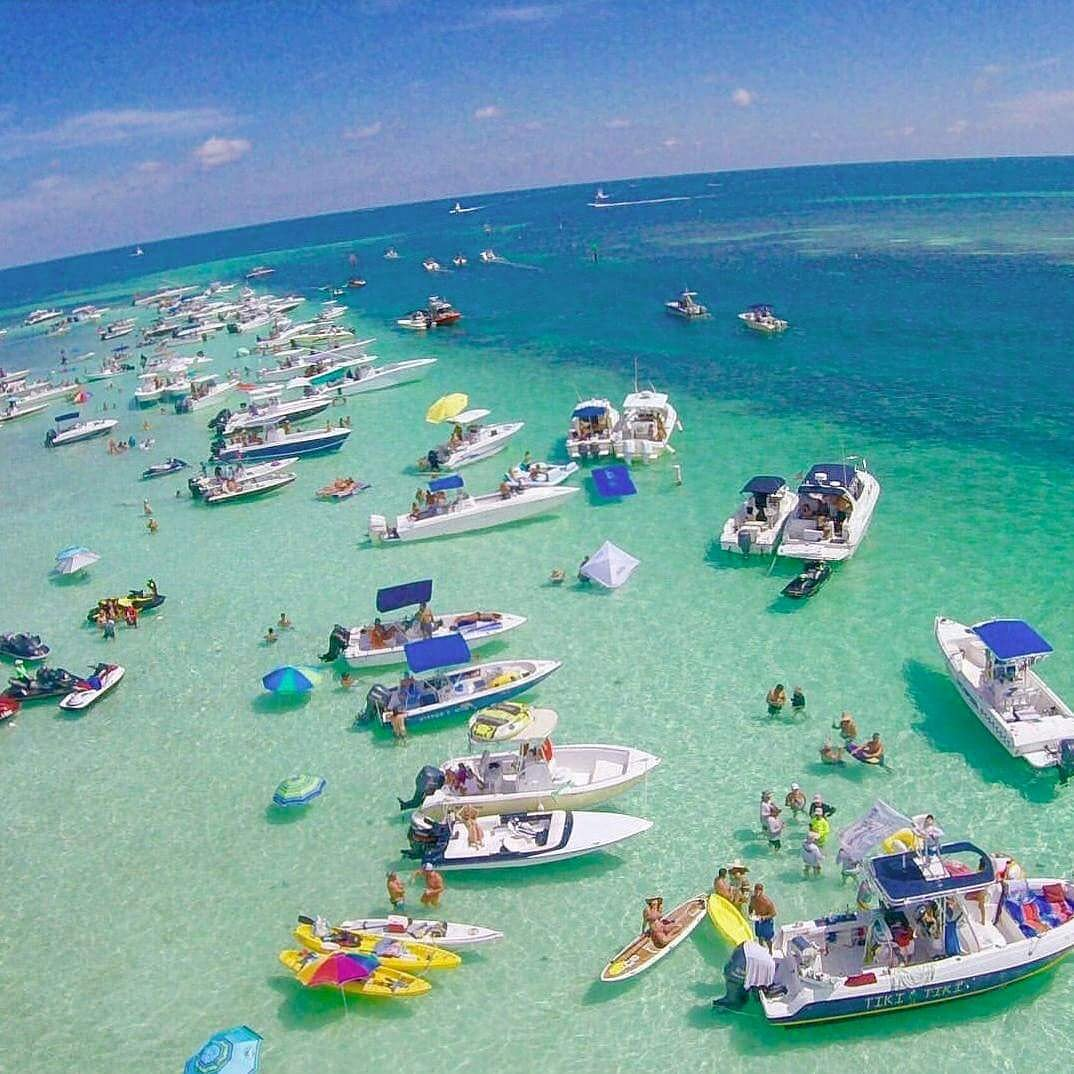 "Party Island Beach: Travel Channels On Twitter: ""Crab Island In Destin"